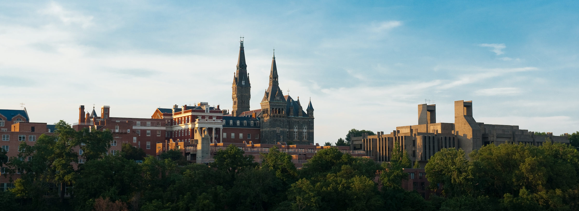 Georgetown University campus photographed from a distance