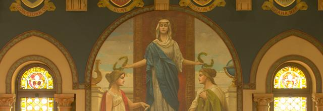 Fresco in Gaston Hall