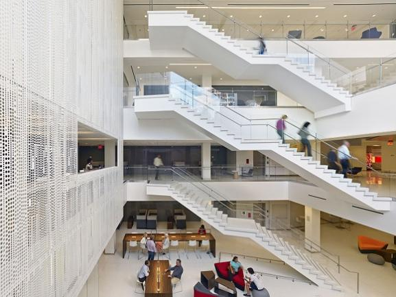 The atrium of the School of Continuing Studies
