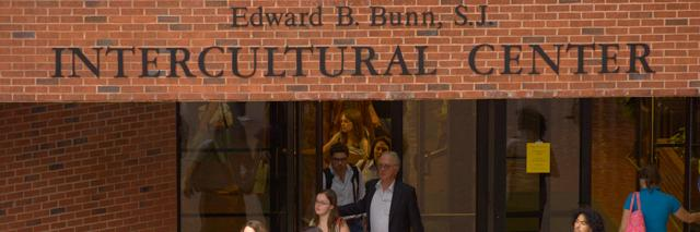 Entrance to the Edward B. Bunn S.J Intercultural Center