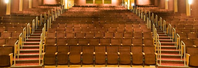 Seats inside Gonda Theatre